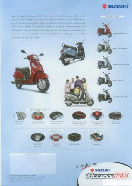 suzuki 125cc access scooter