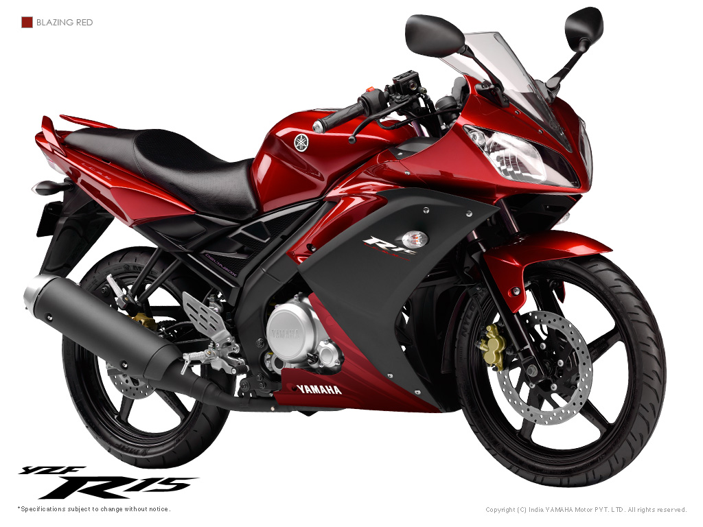 yamaha r15 in blazing red colour   car and bike blog