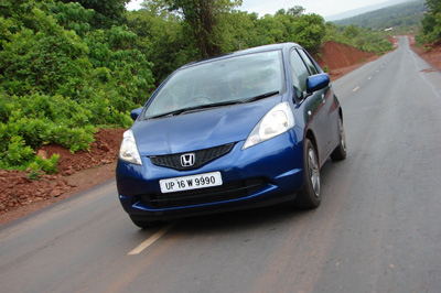 test honda jazz