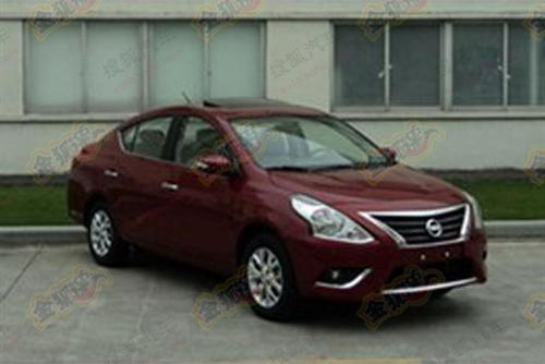Nissan Sunny facelift -front spy picture